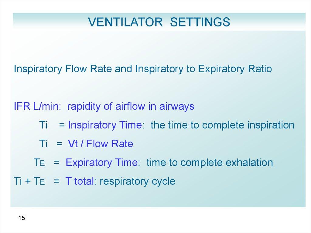 Modes of ventilation - online presentation