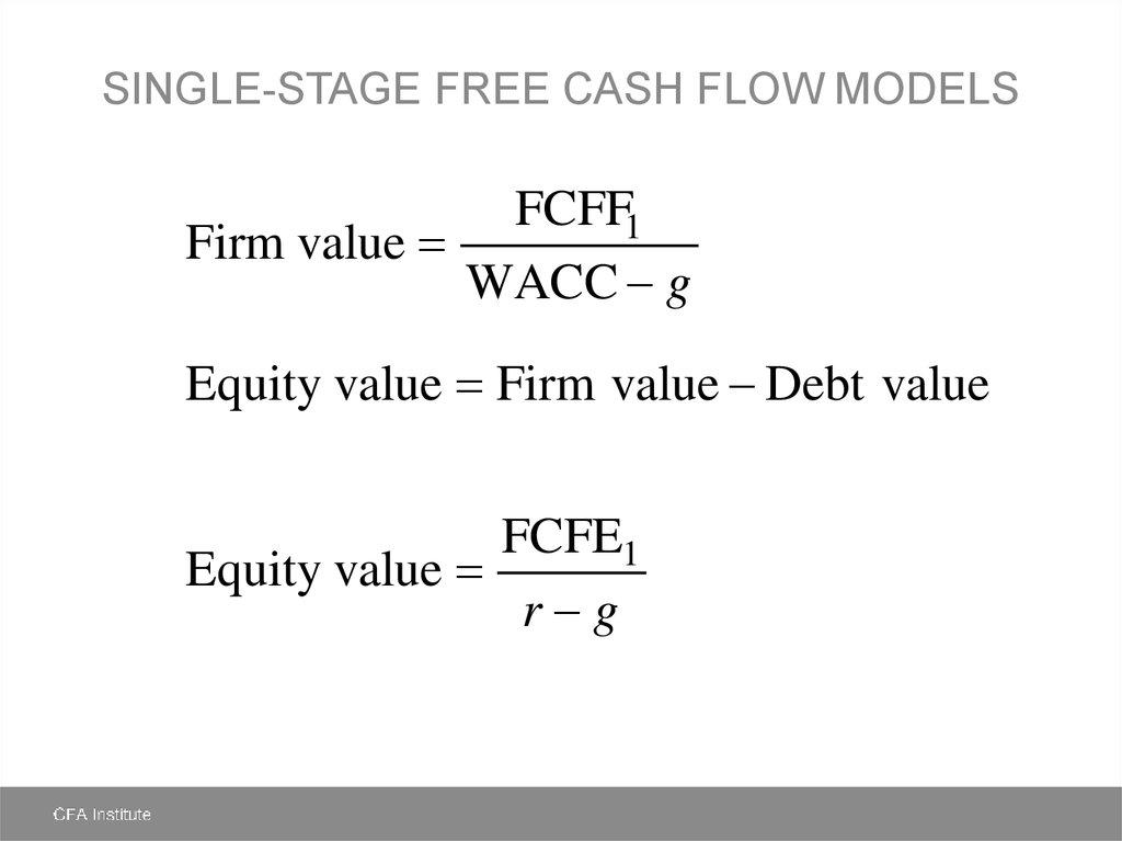 Free Cash Flow Valuation - презентация онлайн