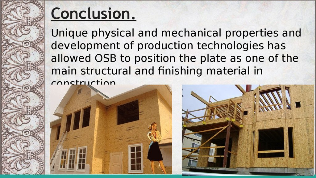 Presentation about building materials OSB plate - online presentation