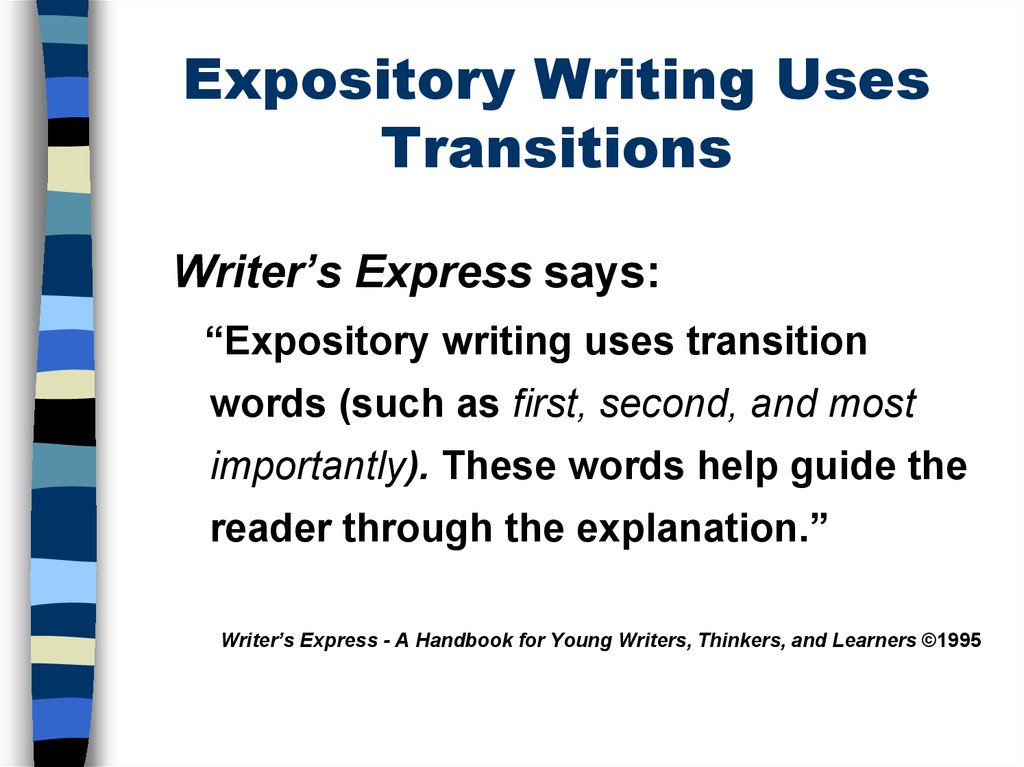 Writing an expository essay about a change in me Homework Help