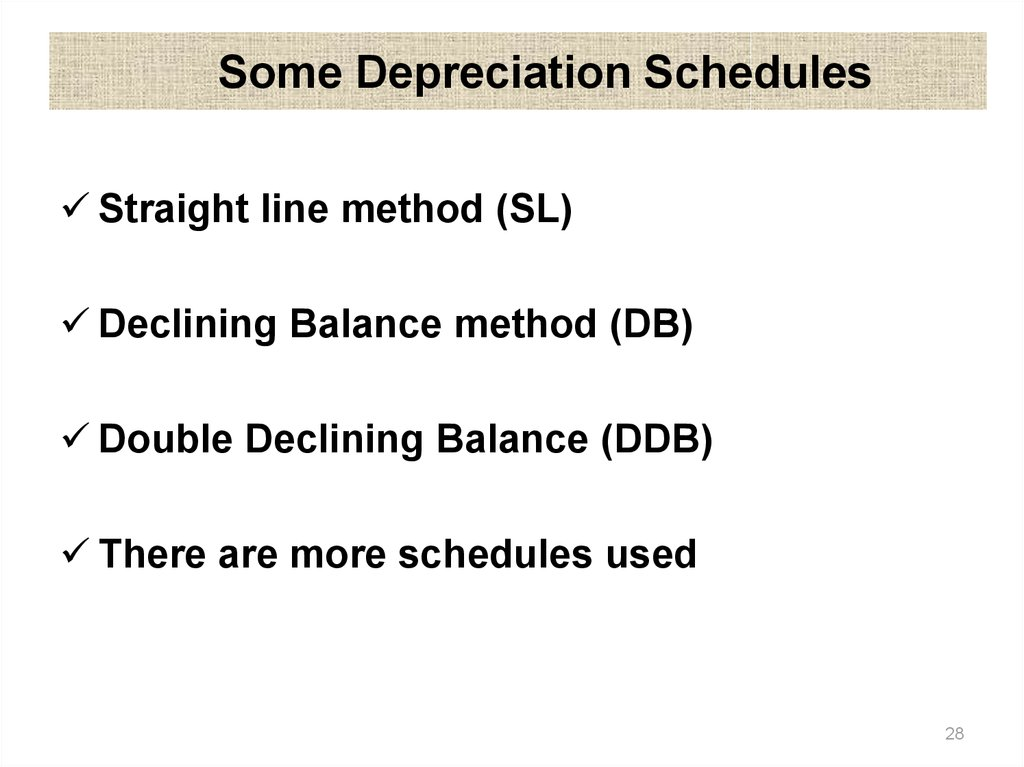 Depreciation and Income Taxes - online presentation
