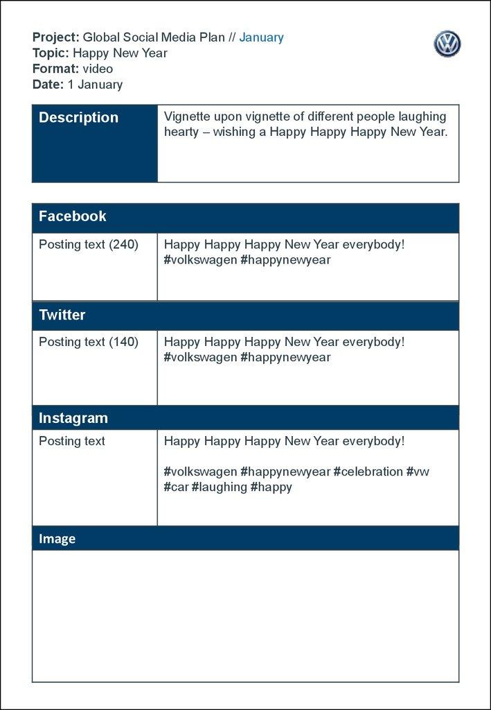 Happy New Year - online presentation