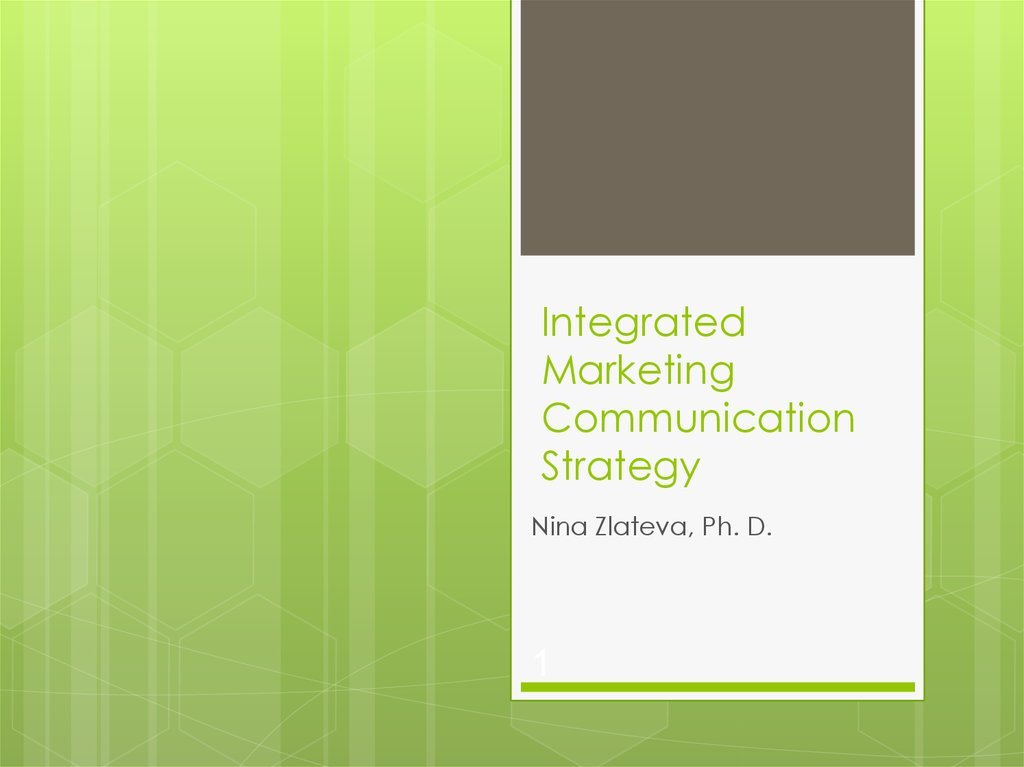 Integrated Marketing Communication Strategy - online presentation