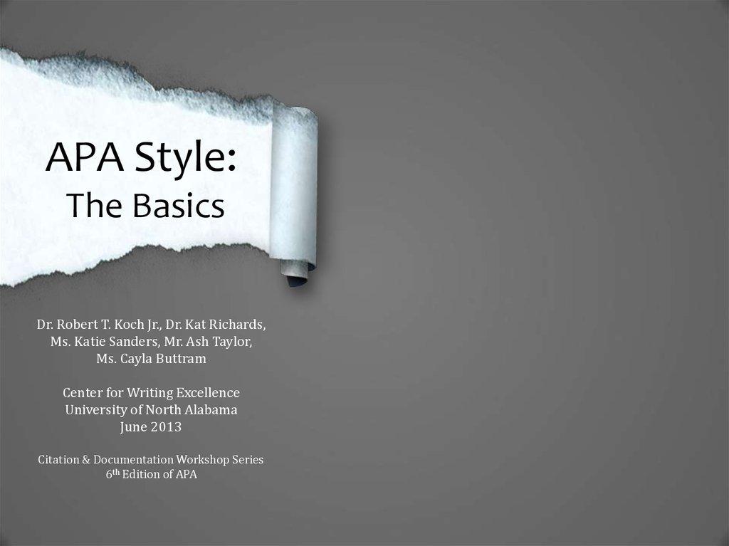 APA Style The Basics - online presentation