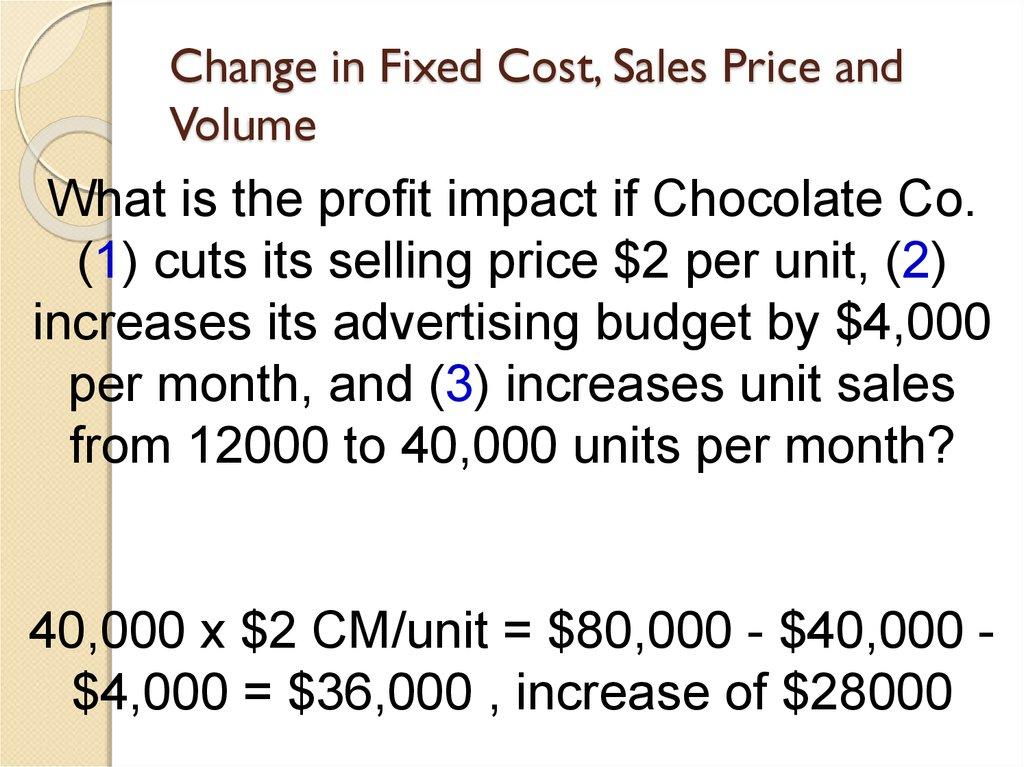 Cost-volume-profit (cvp) analysis - online presentation - cost of sales analysis
