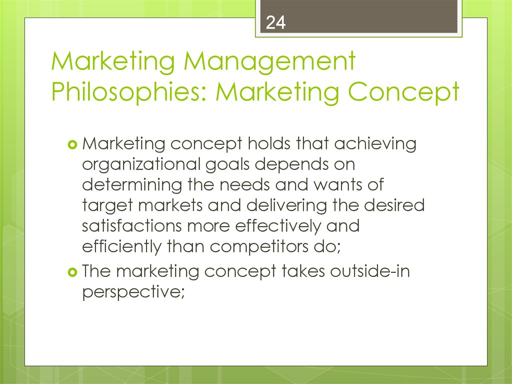 Introduction to Marketing - online presentation