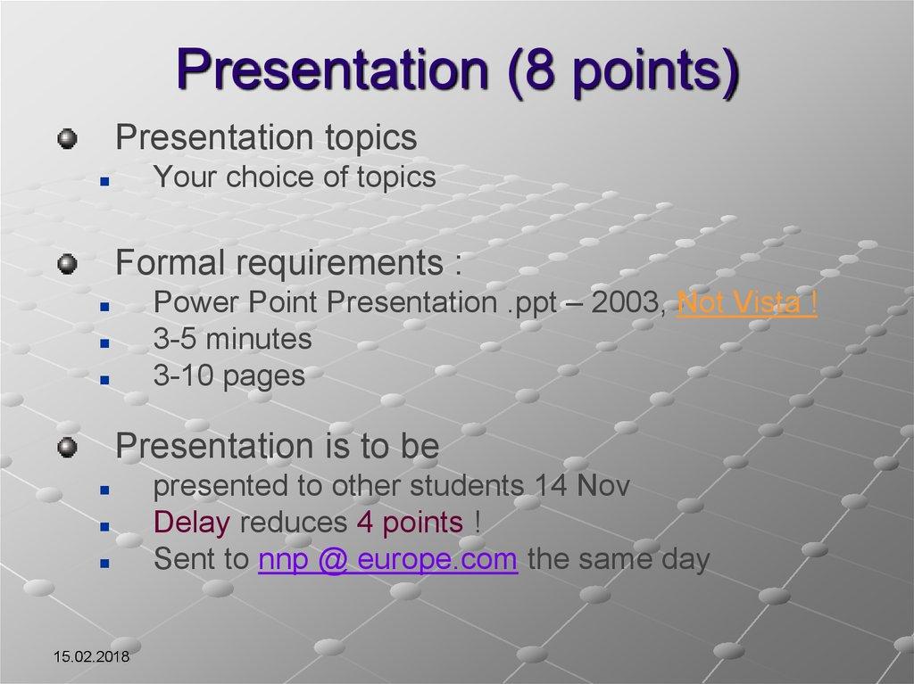 Methodology Assessment - online presentation