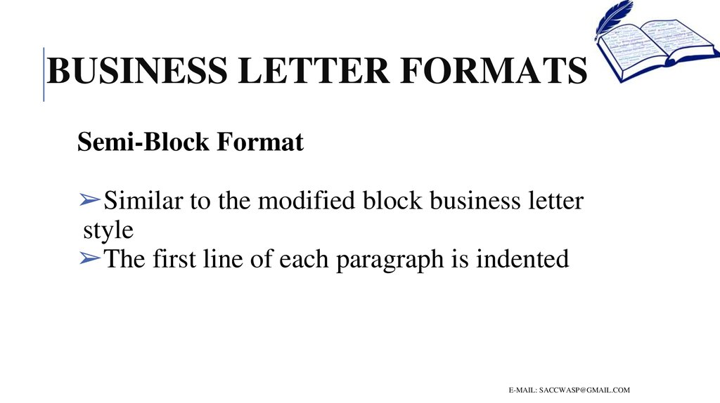 How to write a business letter - online presentation