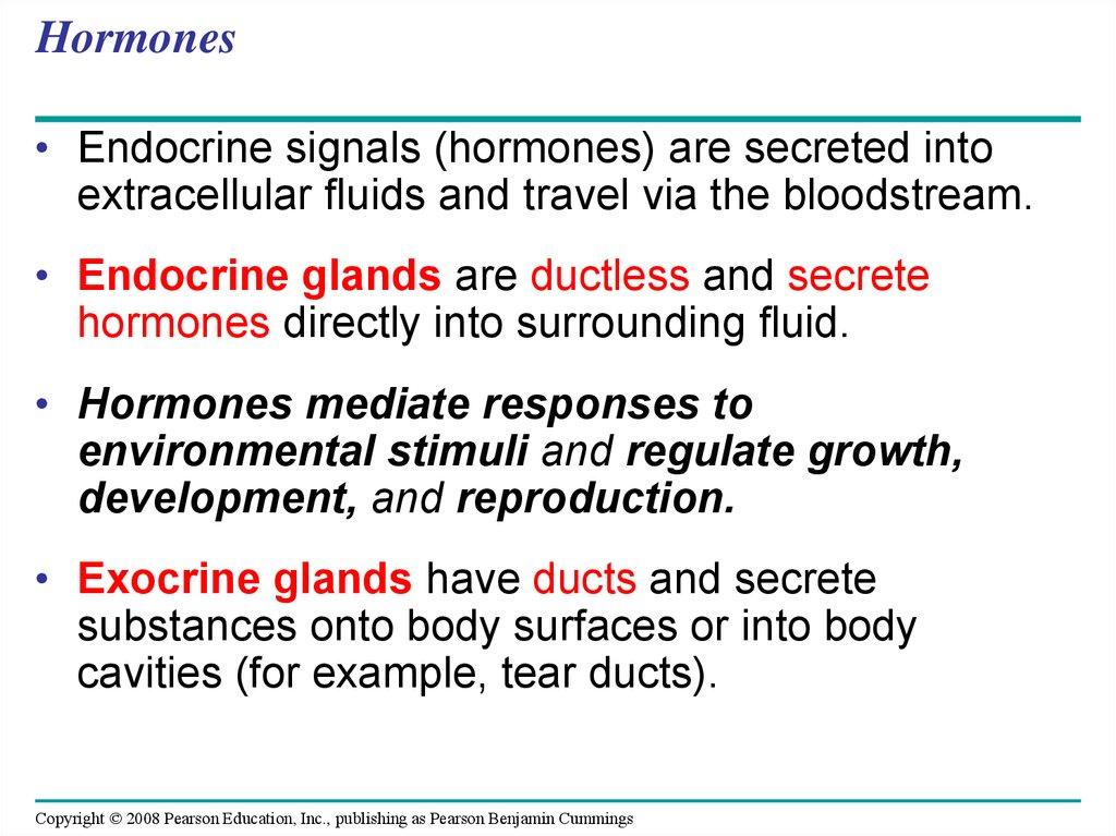 Hormones and the Endocrine System - online presentation