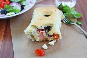 Greek salad rolls