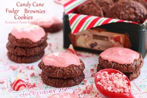 Candy cane fudge brownie cookies