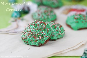 Mint truffle kisses chocolate cookies