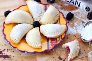 Berry sweet empanadas