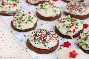 Triple chocolate meltaway cookies