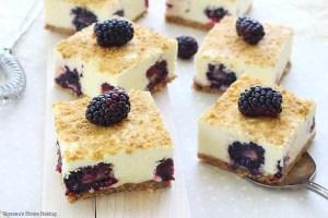 No bake blackberry bars