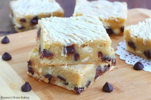 White chocolate chocolate chip brownies