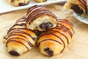 Pain au chocolat (chocolate croissants) made from scratch