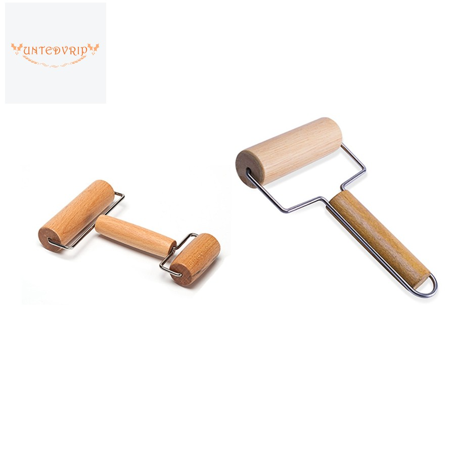 2pcs Wooden Pastry Pizza Roller Non Stick Wooden Stick Suitable For Home Kitchen Baking Cooking Tools Shopee Indonesia