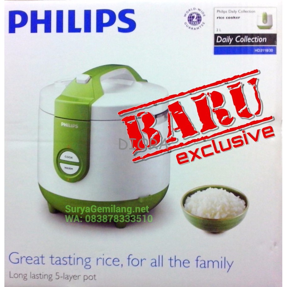 Yong Ma Ymc 109 Philips Daily Collection Rice Cooker Hd312931 2l Biru