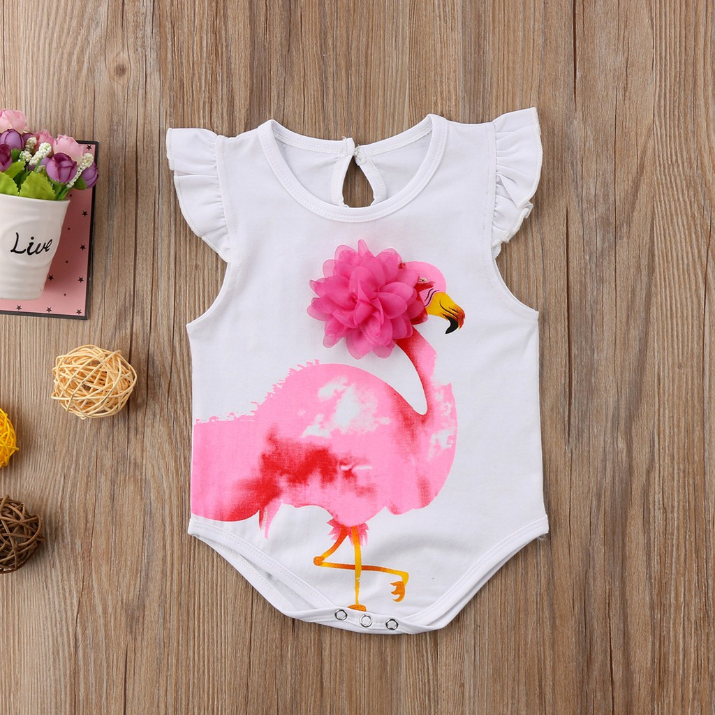 My Junior Miyo Ebay Summer Newborn Baby Girl Short Sleeve Swan Print Romper