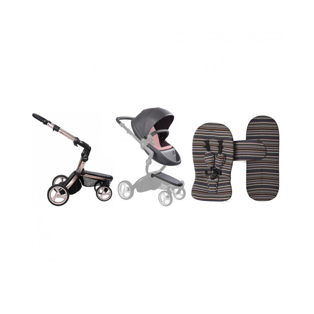 Mima Xari Stroller Harga Stroller Mima Xari Chassis Rose Gold Set Cool Grey St Pack Autumn Stripe C020100336