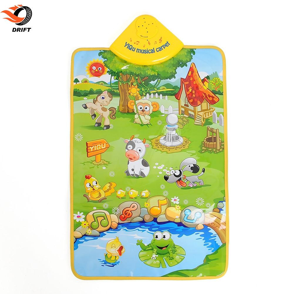 Krabbelmatte Baby Musical Music Farm Farmery Child Playing Play Blanket Mat Pad Carpet Playmat
