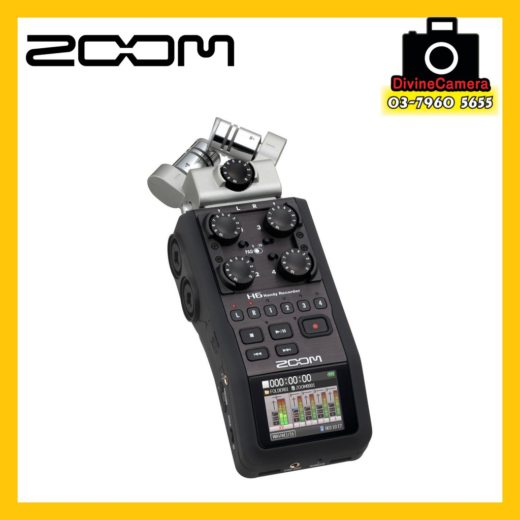 Zoom H6 Recorder Zoom H6 Handy Recorder With Interchangeable Microphone System