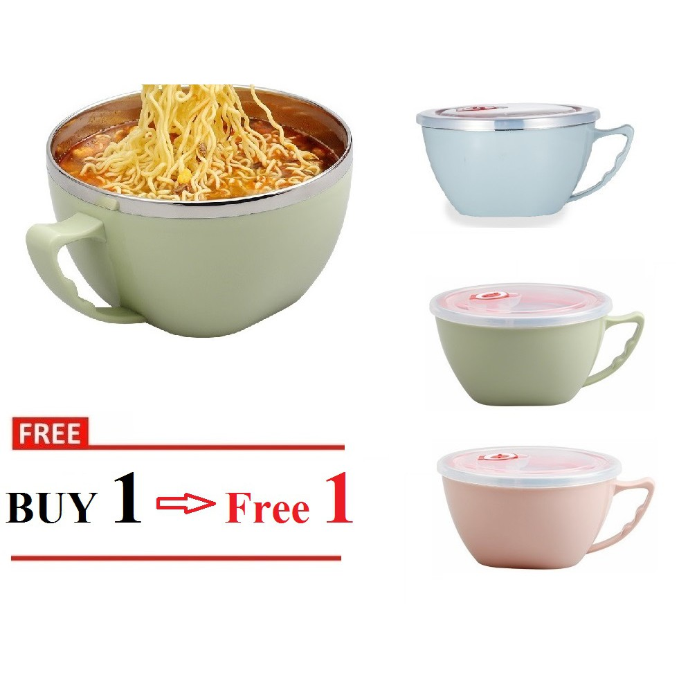 Cuisine Fyndig Stainless Steel Lunch Box Multifunction Cup Tableware Maggi Noodles Cup Bowl