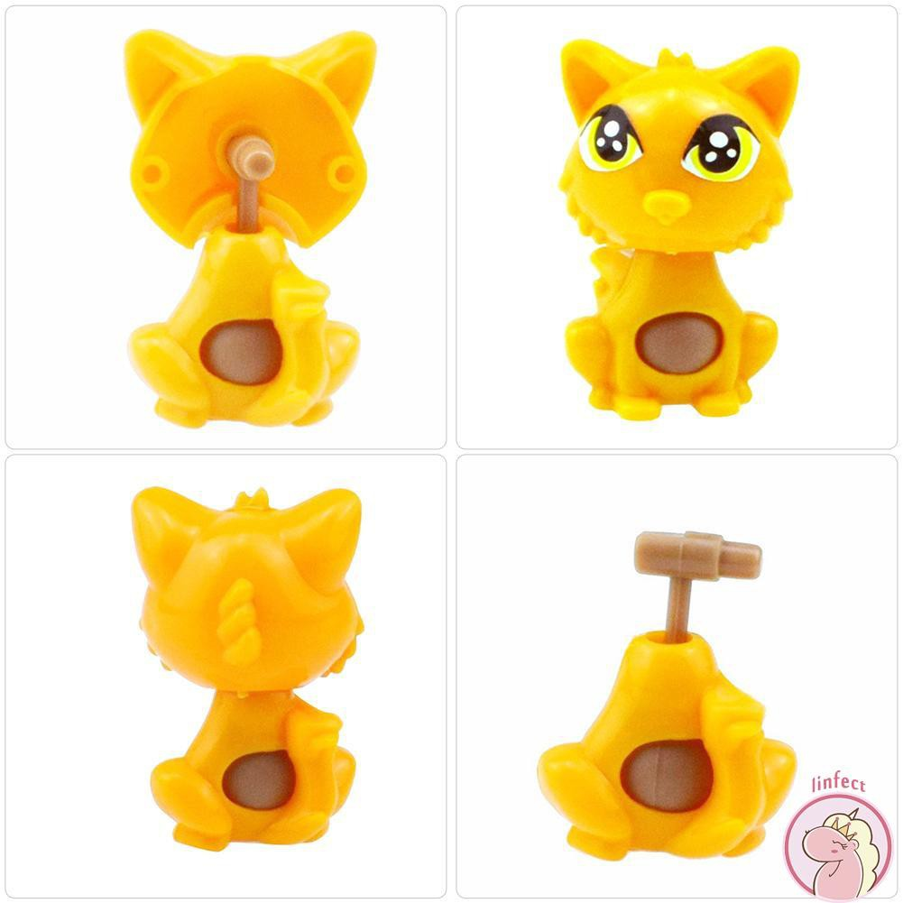 Toy Capsule Toys Plastic Assembled Cat Toy Diy Kitty Capsule Toys Set Kids Education Gifts