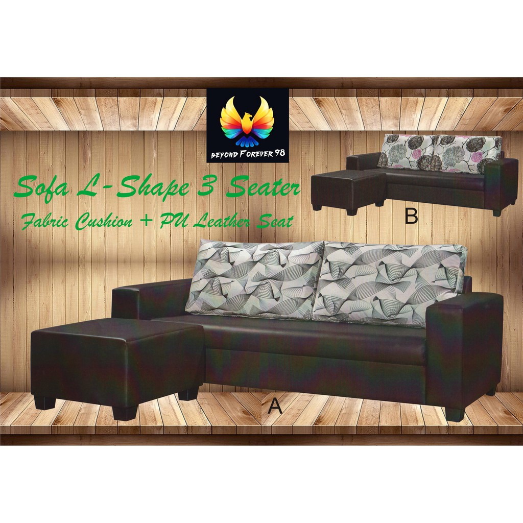 Sofa Upholstery Penang L Shape Sofa 3 Seater Stool