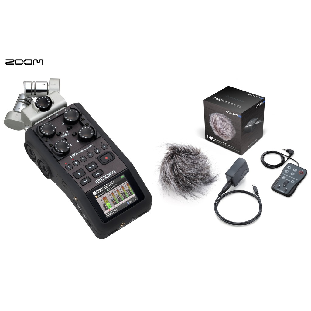 Zoom H6 Recorder Zoom H6 Audio Recorder With Accessory Pack