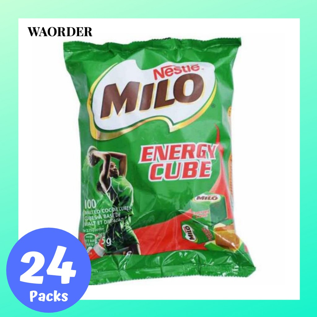 Sedia Feeder Milo Ready Stock Original Milo Cube Energy Candy Carton 24pck X 100pcs