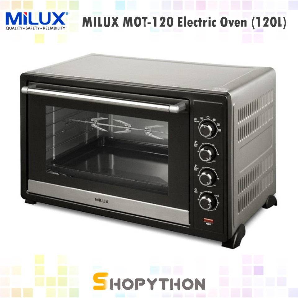 Gambar Oven Gas Milux Electric Oven Super Large Stainless Steel Body Fermentation Mot 120 120l