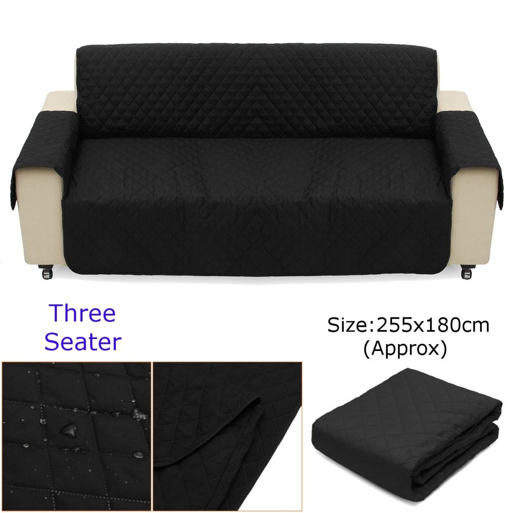 Cara Membuat Sofa Bed Sendiri 1 2 3 Seater Couch Sofa Cover Removable Quilted Slipcover Pet Protector W Strap
