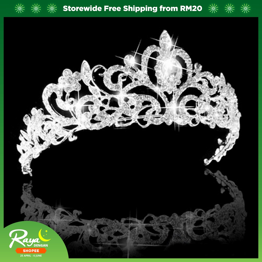 Silver Crown Bettdecken Wedding Bridal Tiara Rhinestone Crystal Silver Crown Prom Party Hair Accessories
