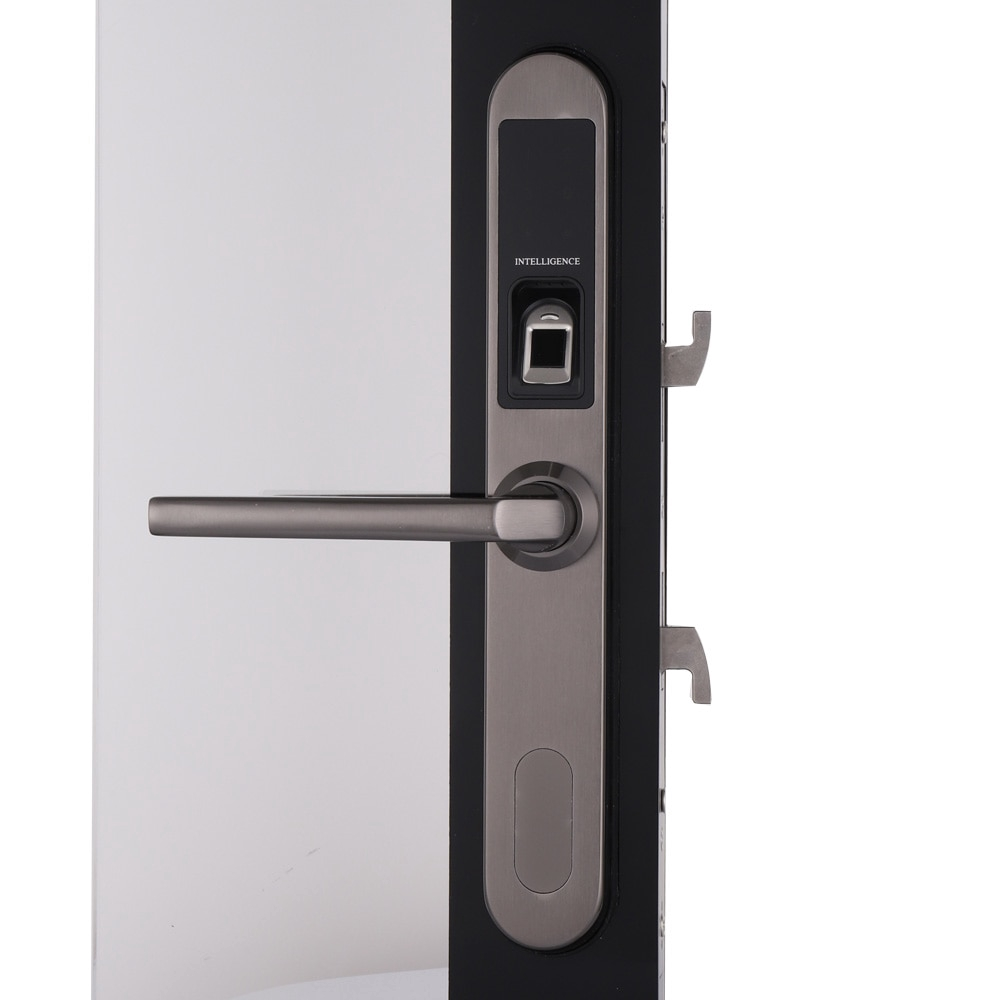 Pintu Sliding Pvc Waterproof Electronic Sliding Door Lock Biometric Fingerprint Sliding Hook