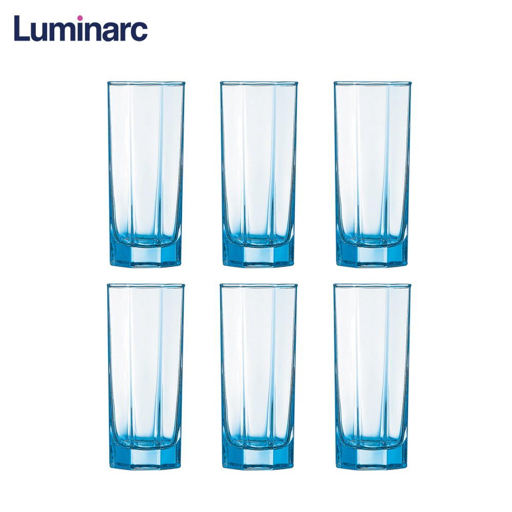 Luminarc Glass Luminarc Octime S Color Iceblue Water Glass Tumbler32cl 6pcs