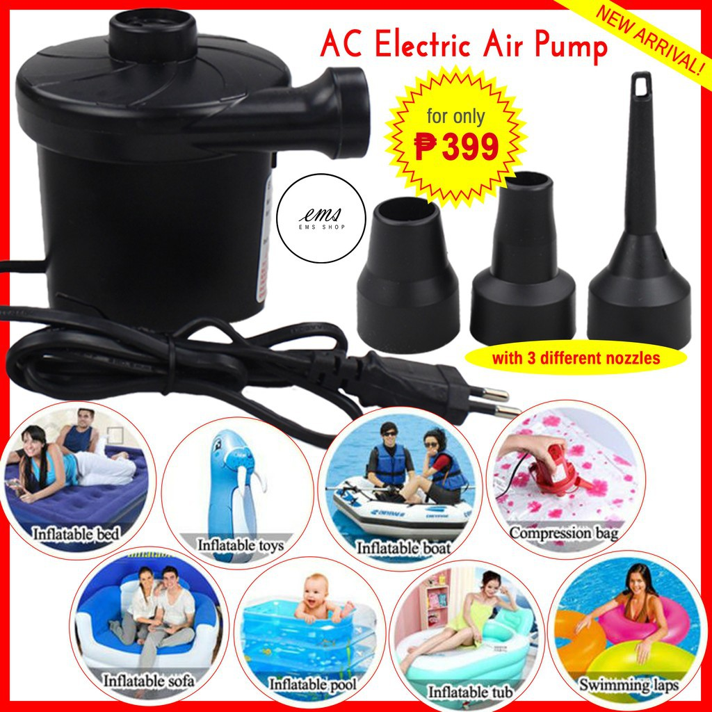 Intex Zwembad 2.60 X 1.60 Electric Air Pump Inflator Deflator Floaters Pump Air Bed Ac
