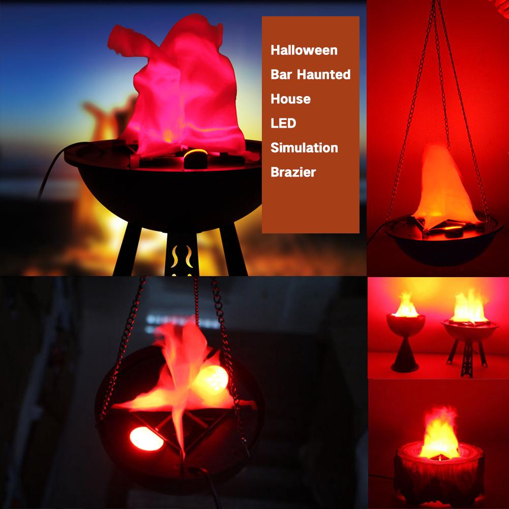 Simulation Décoration Simulation Uv Halloween Hanging Flame Decoration Brazier Shopee