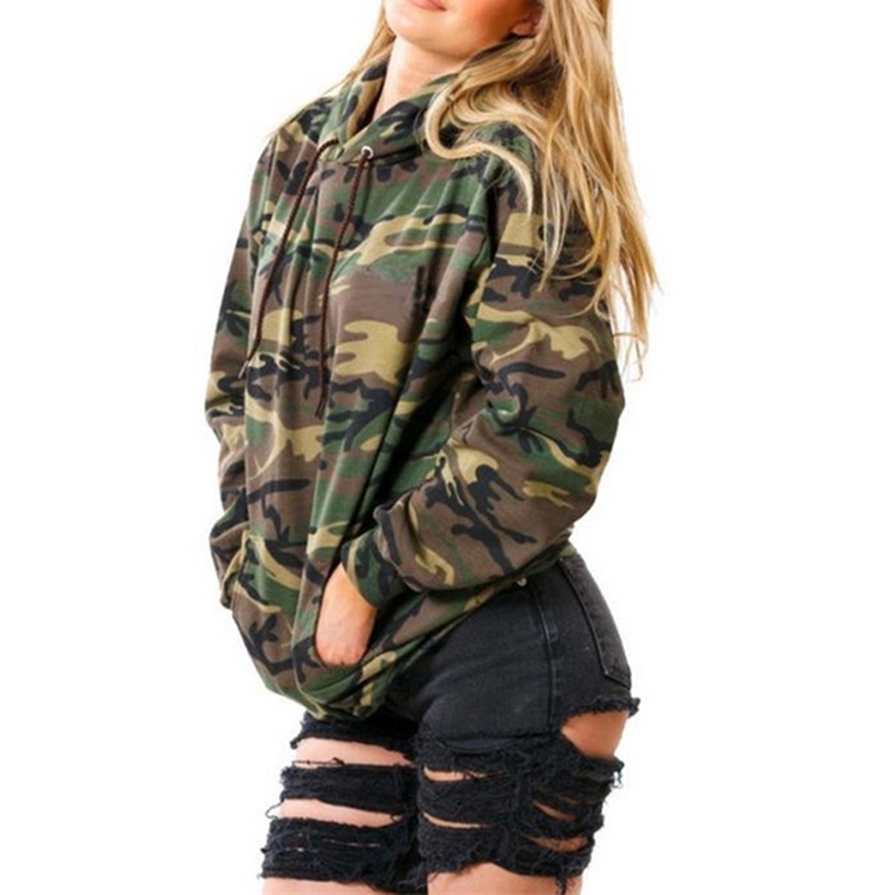 Camo Hoodie Friends Lady Camo Casual Warm Hoodie Jumper Pullover Sweat