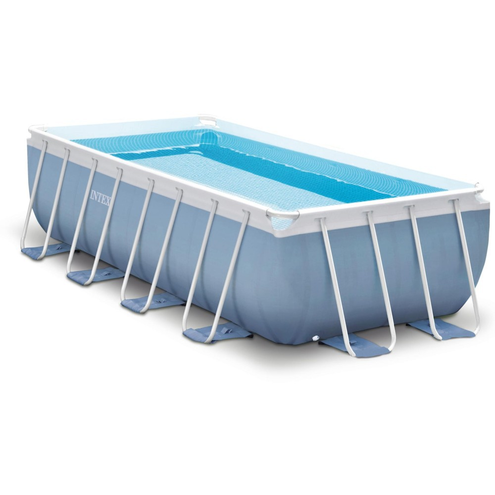 Jilong Pool Reinigungsset Intex Prism Frame Rectangular Pool Set 16ft X 8ft X 42