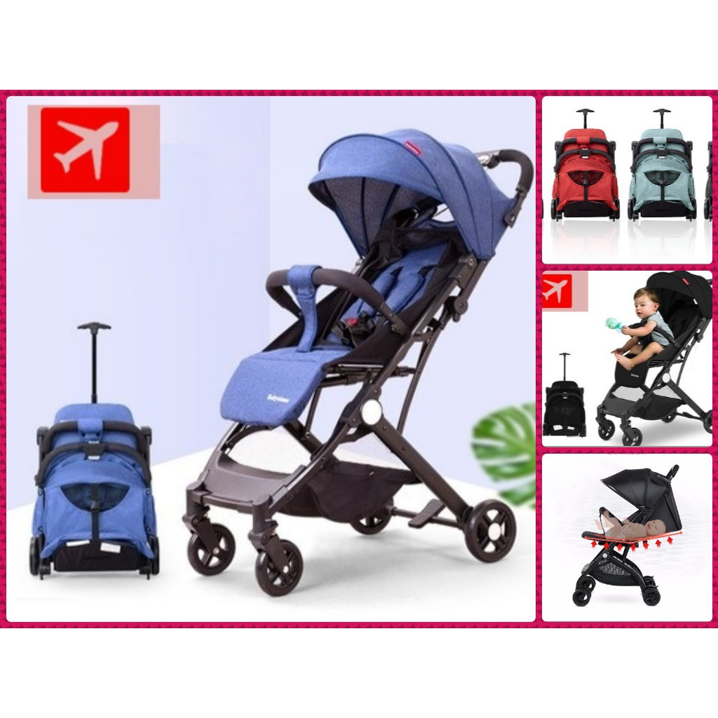 Lightweight Folding Pram Baby Cabin Travel Stroller Foldable Lightweight Stroller Airplane Pram Children