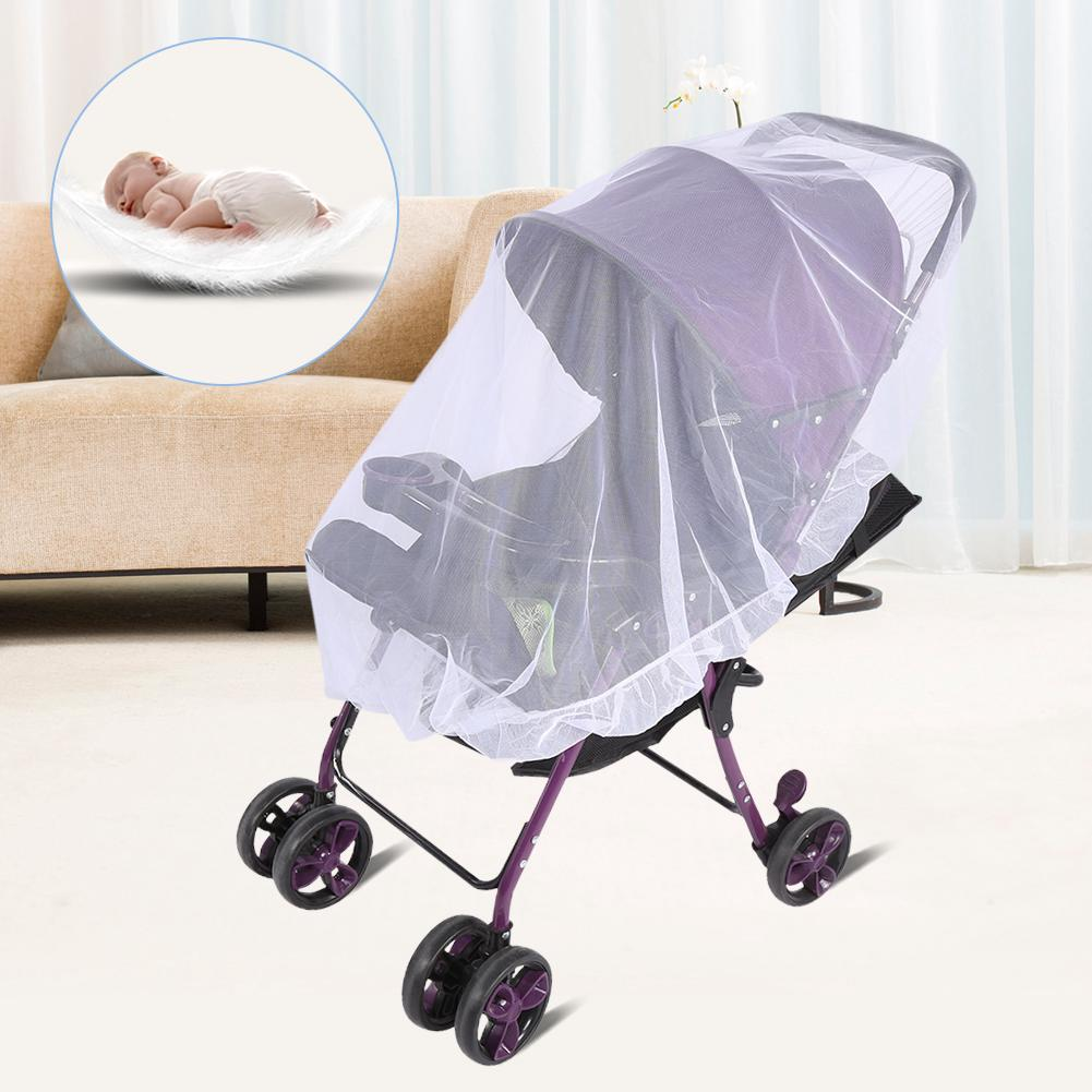Stroller Mesh Cover Baby Kids Net Mesh Stroller Pushchair Mosquito 1pc Safe