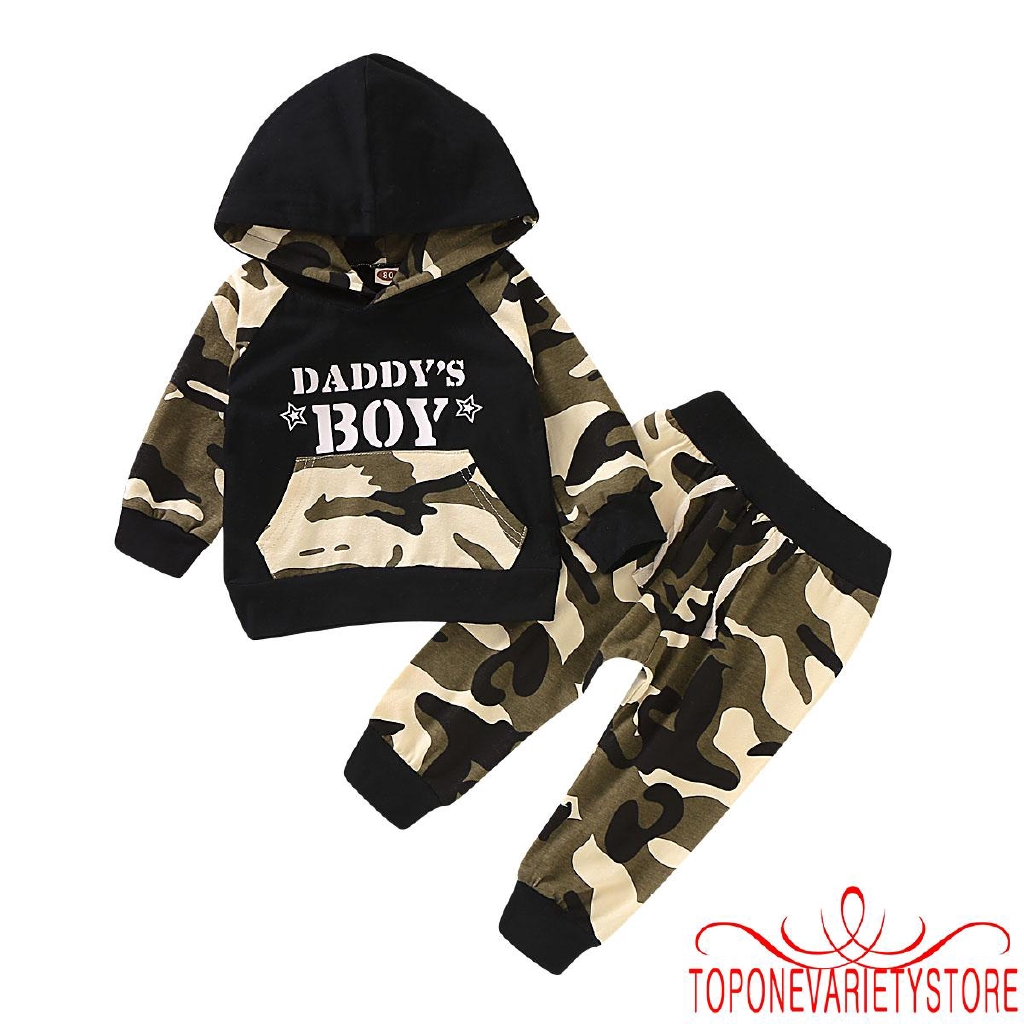 Camo Hoodie Friends Topnew Cute Baby Boy 2pcs Camouflage Outfits Sets Toddler Kids Cotton Hooded