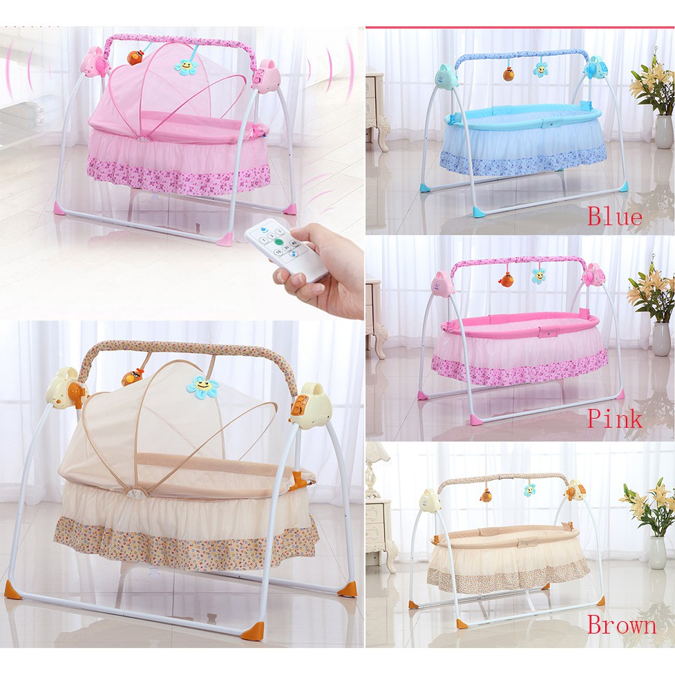 Baby Bassinet Linen Automatic Baby Cradle Electric Baby Intelligent Swing Bed Rocking Chair Bassinet
