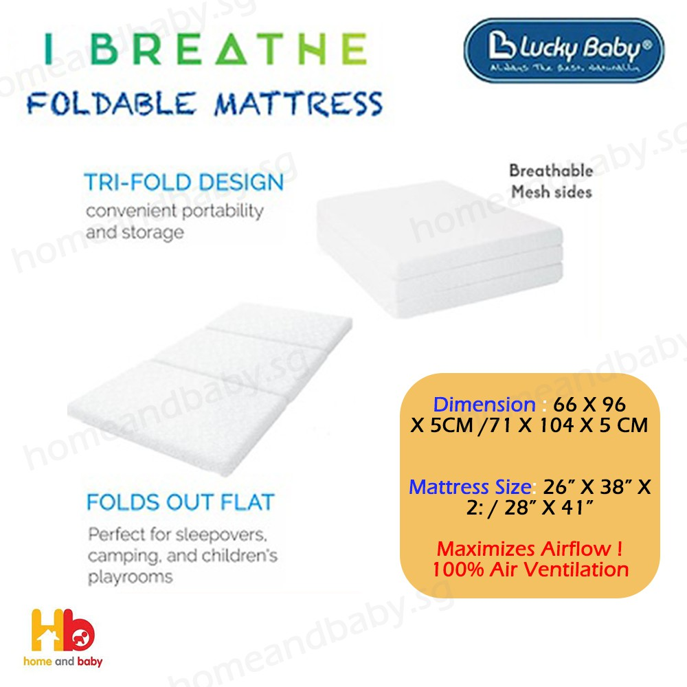 Toddler Mattress Vs Baby Mattress Lucky Baby I Breathe Foldable Mattress