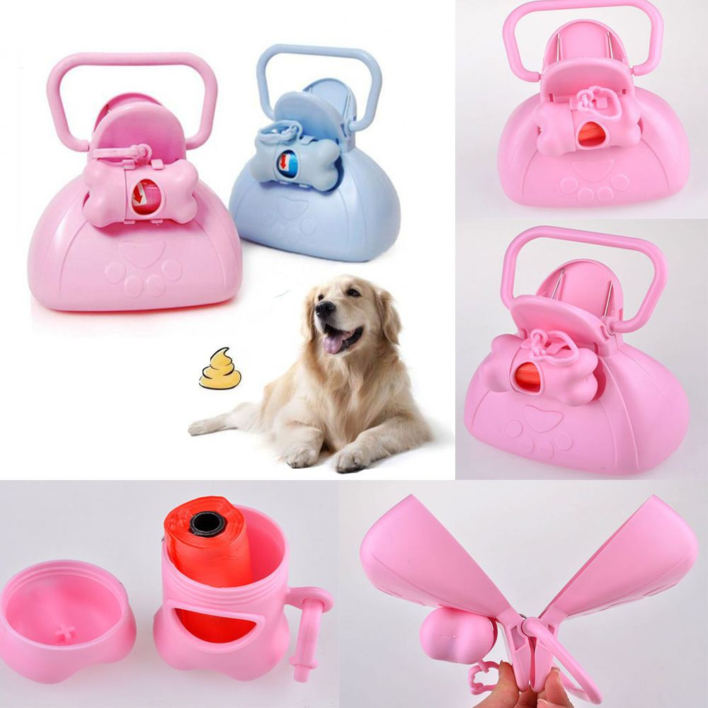 Triple Pet Stroller Pet Waste Scooper Dog Excretion Clean Tool Cat Garbage Bag Handle Poop