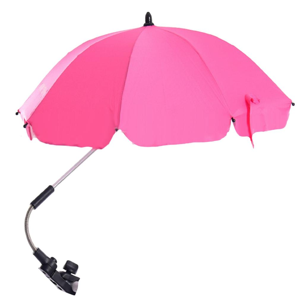 Baby Pram Umbrella Adjustable Baby Stroller Pram Sun Shade Umbrella For Pushchair Accessories S351