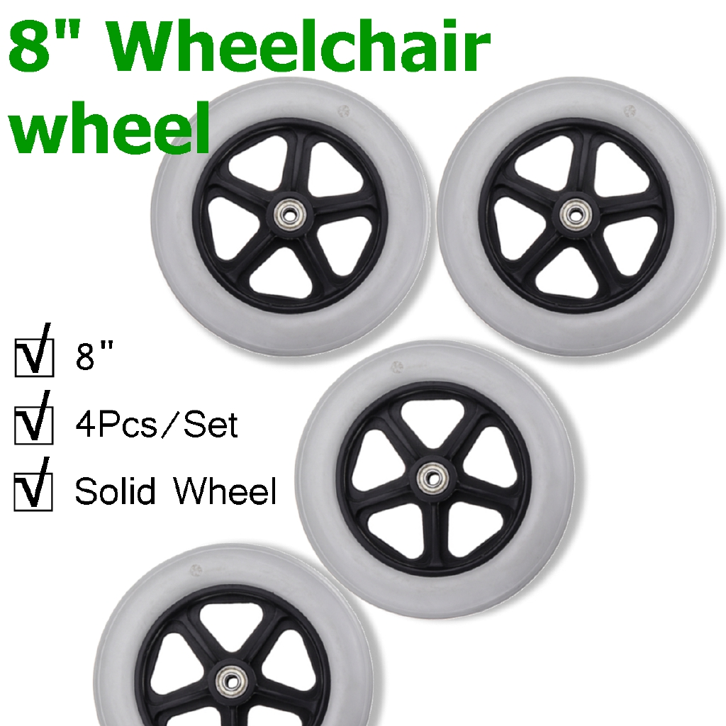 Egg Pram Replacement Wheels 4pcs Caster Wheel With Bearing For Rollator Walker