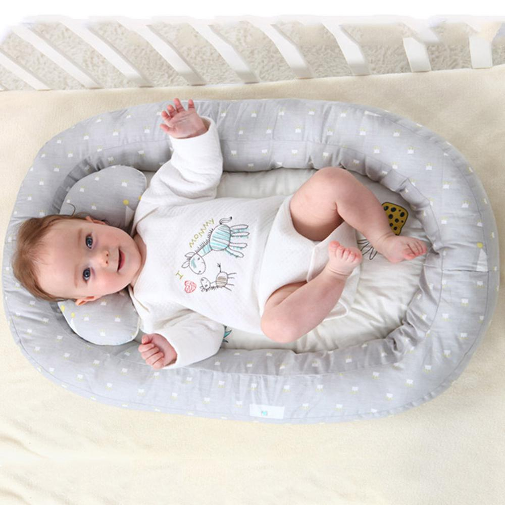 Baby Bassinet Linen Baby Lounger Extra Soft Portable Bassinet Pillow Nest For Infant